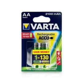 VARTA 56706 Rechargeable Batteries 2-pack AA 2100mAh NiMH image
