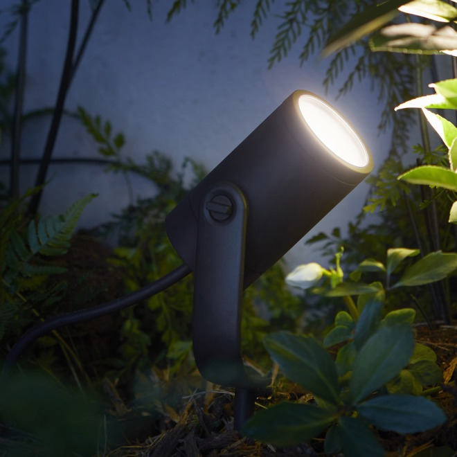 Philips Hue LED-Spot Lily schwarz 1-flammig, Starter-Kit