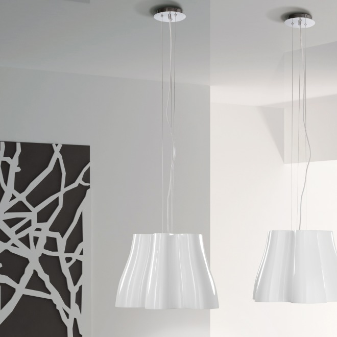 Mantra pendant light MISS 3L white