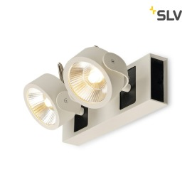 SLV Kalu 60° LED wall light 2-flames white