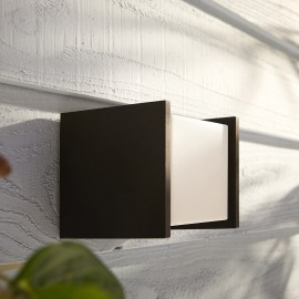Philips Hue White Fuzo LED Wall Light square block, black