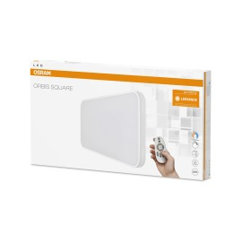Osram ORBIS Square LED Ceiling Luminaire REMOTE CCT 55W 68x38cm