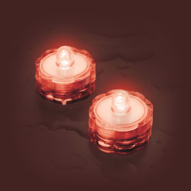 Lotti LED tea light Set of 2, waterproof, red