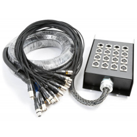 PD Connex Stage Snake 12 + 4 XLR 15m 18mm
