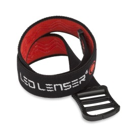 Ledlenser Rubber Helmet Strap black-red