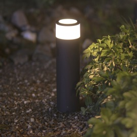 Philips Hue White and Color Ambiance Calla  LED Pedestal Light, black, incl. power supply unit