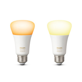 Philips Hue White Ambiance LED E27 set de 2 9,5W