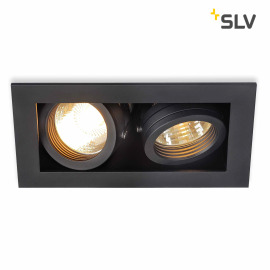 SLV KADUX 2 GU10 Downlight carré noir