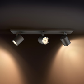 Philips hue Runner LED 3-er Spot schwarz