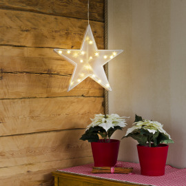 Konstsmide LED Plastic Star, warmwhite, 20 LEDs