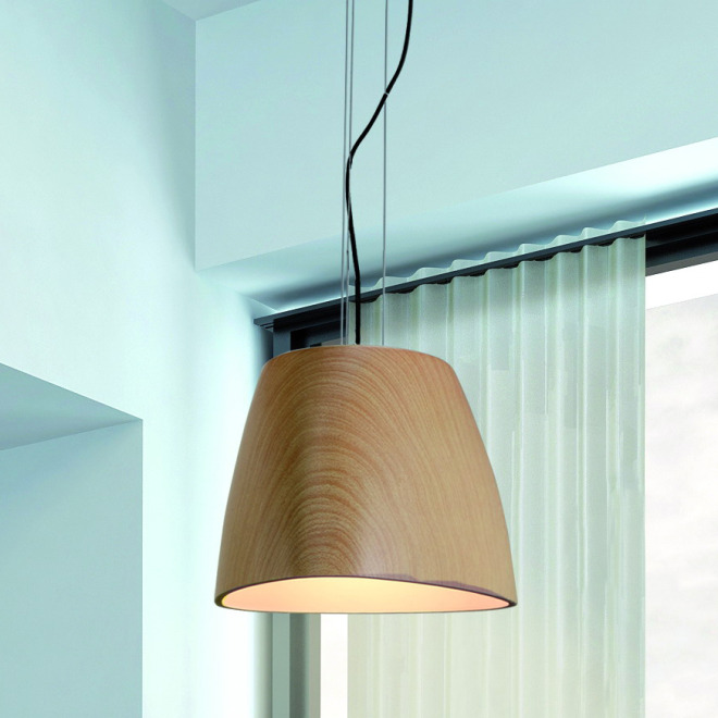 Mantra pendant light TRIANGLE BIG 1L wood