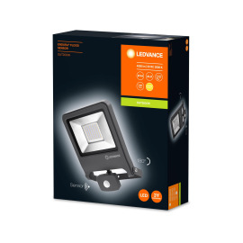 LEDVANCE LED Wall Floodlight ENDURA FLOOD Sensor 50W 830 dark grey