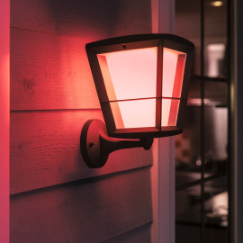 Philips Hue White and Color Ambiance Econic LED Lampe Murale stagnant, noir