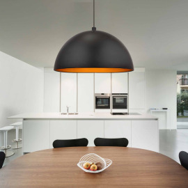 Globo pendant light Earth black