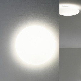 Steng LED Ceiling and Wall Luminaire LENS white