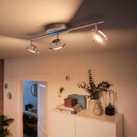 Philips myLiving LED-Spot Glissette 3-flammig, WarmGlow, chrom
