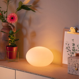 Philips Hue LED Lampe de Table Flourish, blanc, White an Color Ambiance