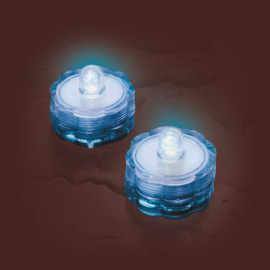 Lotti LED tea light Set of 2, waterproof, blue