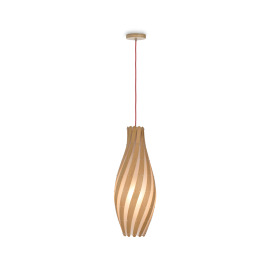 ESTO Pendant Light Swirl E27 D17 Wood