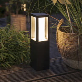 Philips Hue White and Color Ambiance Impress LED Pedestal Light, black