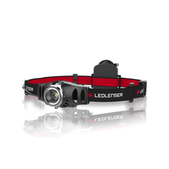 Ledlenser H3.2 Focusable LED Headlamp with Dimming Function black-red