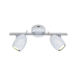 WOFI LED Ceiling Light Quincy Double-flame white