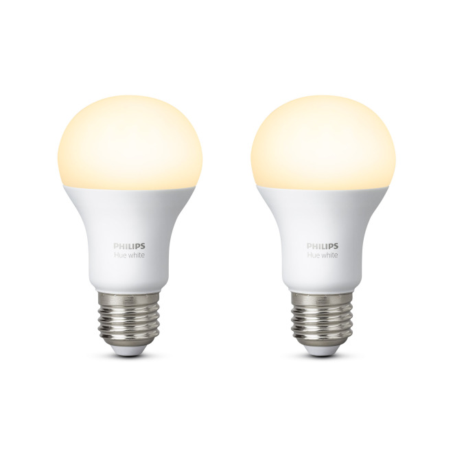 Philips Hue White LED E27 set de 2 9,5W