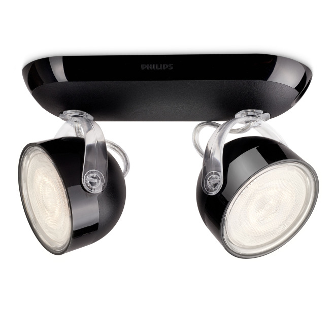 Philips myLiving Dyna LED-2 Spots noir
