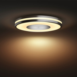 Philips Hue White Ambiance Being Ceiling Light silver, Dimmer Switch