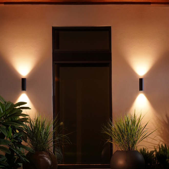 Philips Hue White and Color Ambiance LED-Wandleuchte Appear 1200lm schwarz