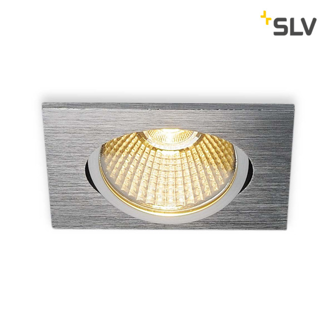 SLV NEW TRIA 68 LED DL SQUARE Set Downlight alu-brushed