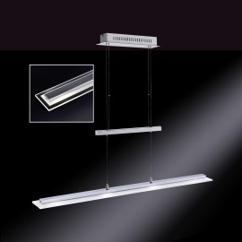 Honsel LED-Pendelleuchte Tenso RGBW 4-flammig chrom-nickel