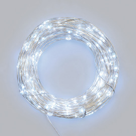Lotti LED Micro Light Chain 200 cold white LEDs, Remote Control, 15 Functions, Battery Operated