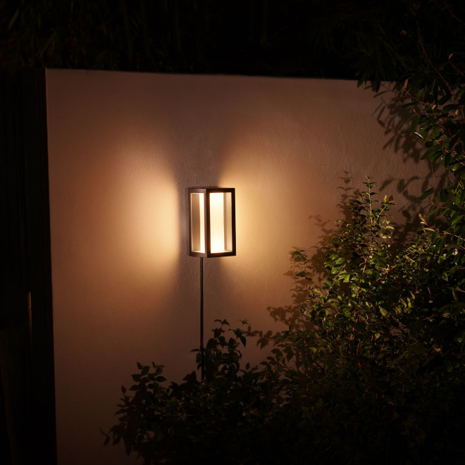 Philips Hue White and Color Ambiance LED-Wandleuchte Impress schwarz