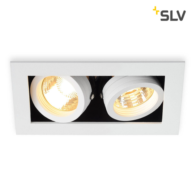 SLV KADUX 2 GU10 Downlight carré blanc