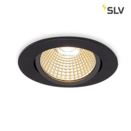 SLV NEW TRIA 68 LED DL ROUND Set Downlight noir