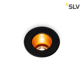 SLV Triton Mini LED-Downlight schwarz-gold