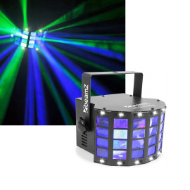 Beamz LED Butterfly 3x3W RGB 3in1 with strobe