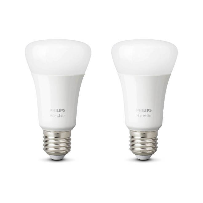 Philips Hue White LED E27 Doppelpack
