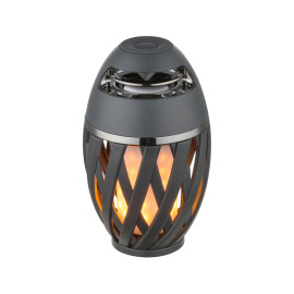Globo LED Outdoor Light Stream, Flicker Effect, incl. Bluetooth Speaker, dark grey, battery-operated