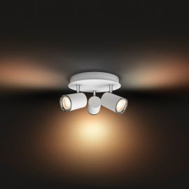 Philips Hue White Ambiance Adore LED Ceiling Light white, 3 x 350lm, Dimmer Switch