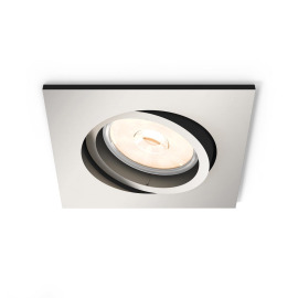 Philips myLiving LED Downlight Donegal square silver