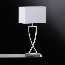 Fischer & Honsel Lampe de Table Anni blanc