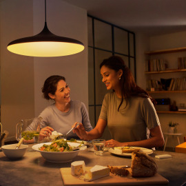 Philips Hue White Ambiance Cher LED-Pendelleuchte schwarz, 3000lm