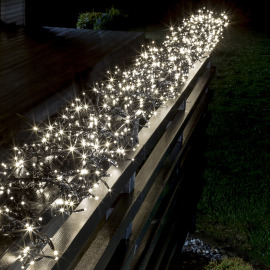 Konstsmide LED Cluster Chain of Lights, warm white 12m (960 LEDs), 8 Functions