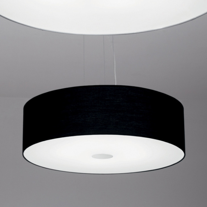 Ideal Lux WOODY SP5 NERO pendant light