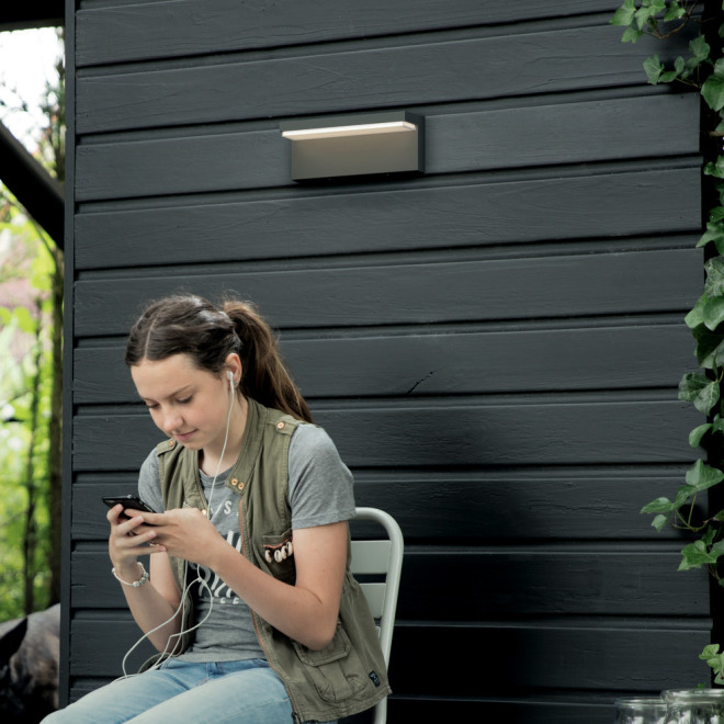 Philips myGarden LED-Wandleuchte Bustan, anthrazit
