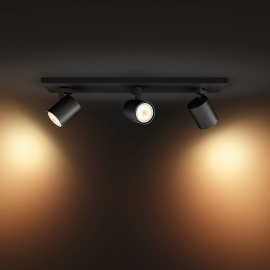 Philips Hue White Ambiance Runner LED Spot Light triple-flamed black, 3x 350lm