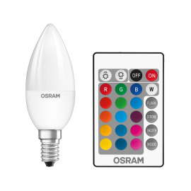 Osram LED STAR+ CL B RGBW E14 25 4,5W remote control 827