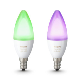 Philips Hue White and Color Ambiance LED E14 set of 2 RGBW 6,5W image